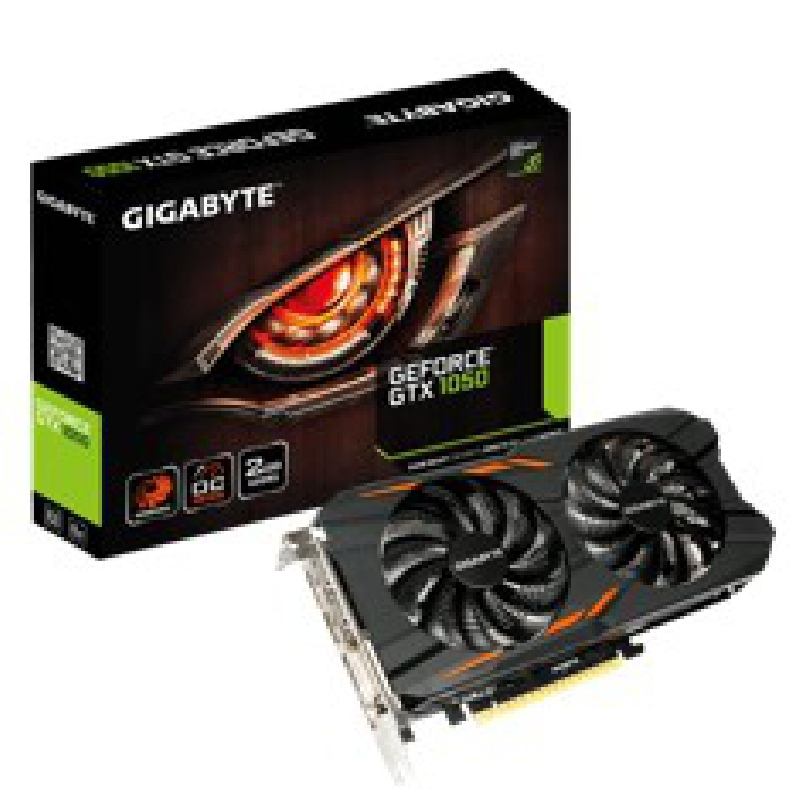VGA GIGABYTE NVIDIA G-FORCE GTX 1050-WF2-OC