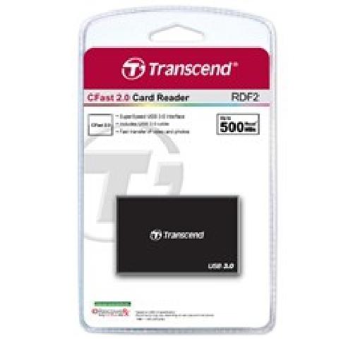 LECTOR TARJETAS MEMORIA TRANSCEND TS-RDF2 USB