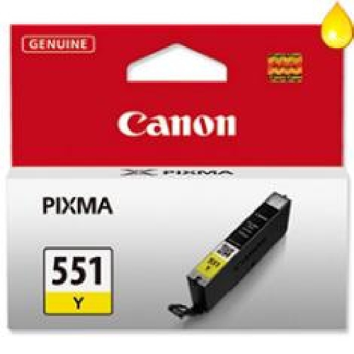 Cartucho tinta canon cli - 551y amarillo mg6350
