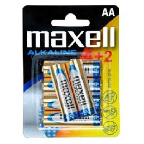 Blister maxell 4+2 pilas alcalinas aa