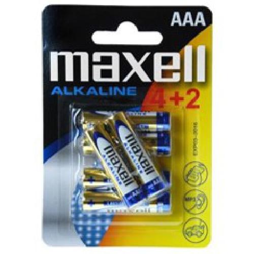 BLISTER MAXELL 4+2 PILAS ALCALINAS AAA