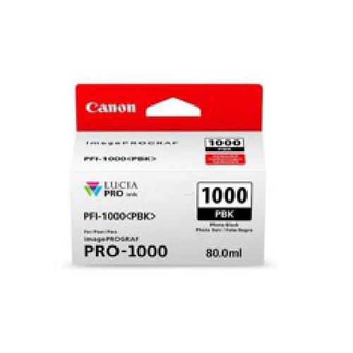 Cartucho tinta canon pfi - 1000 pbk foto