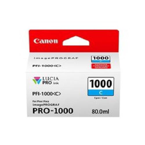 CARTUCHO TINTA CANON PFI-1000 C CIAN