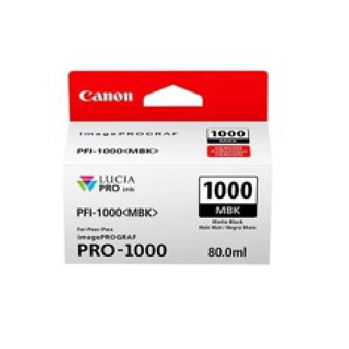 CARTUCHO TINTA CANON PFI-1000 MBK NEGRO