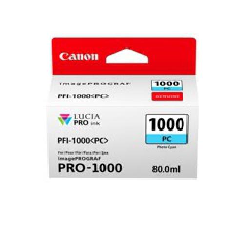 Cartucho tinta canon pfi - 1000pc foto cian