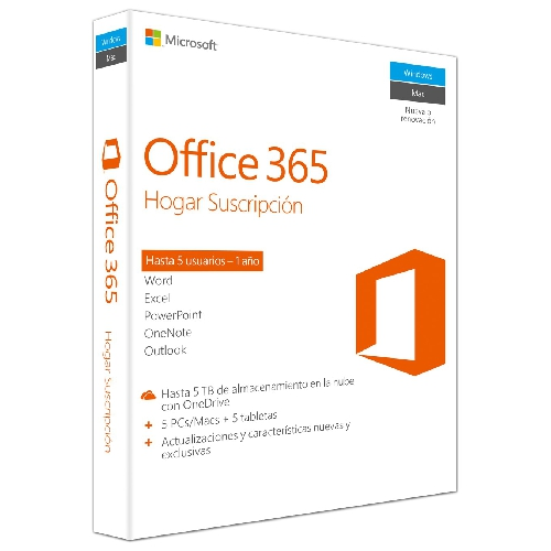 OFFICE 365 HOGAR PREMIUM ESD 5PC