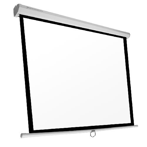 Pantalla manual videoproyector pared y techo