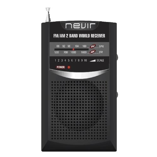 Radio nevir bolsillo nvr - 136 negro
