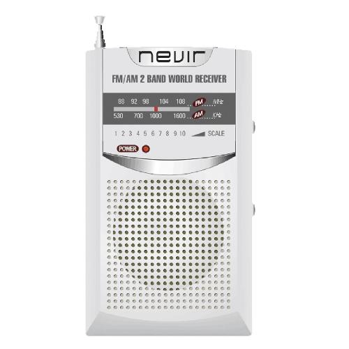 Radio nevir bolsillo nvr - 136 plata