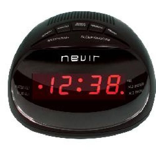 RADIO RELOJ DESPERTADOR NEVIR NVR-333 NEGRO
