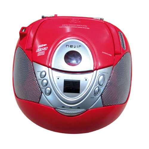RADIO CD MP3 PORTATIL NEVIR NVR-474U