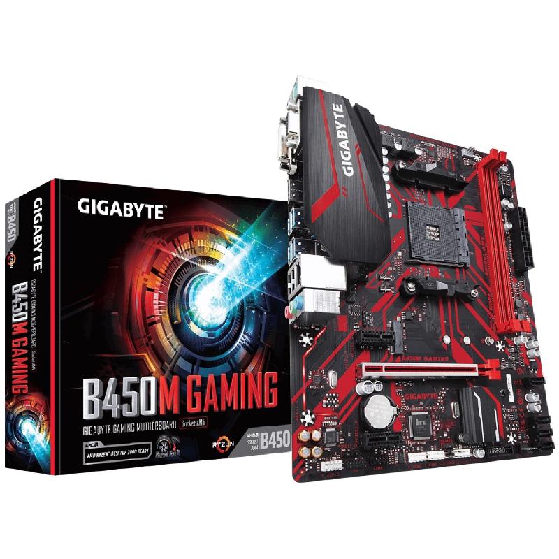 PLACA BASE GIGABYTE AMD B450M GAMING